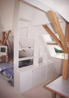 Raumteiler Für Dachschrä schlafzimmer schreinerei münchen bett holz schrank einrichtung